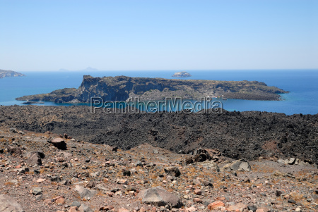 greece islands lava scenery countryside nature
