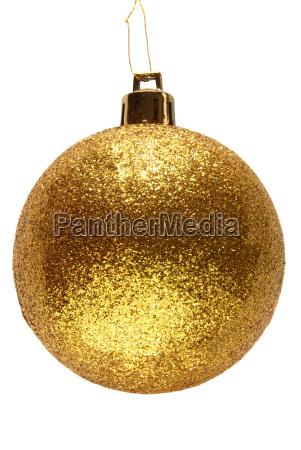 gold glitzer weihnachtskugel ball