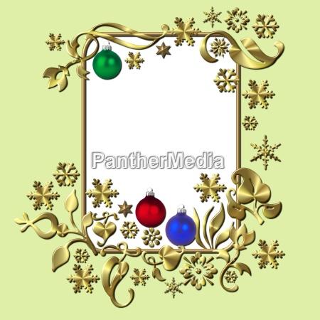 goldener weihnachtsrahmen