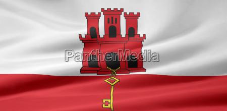 gibraltische flagge