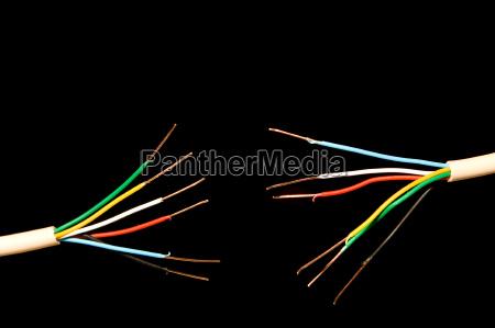 elektronik kommunikation beraubt kabel draht technologie