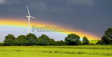 pinwheel with rainbow