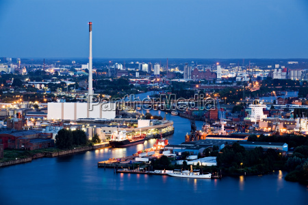 industry and harbor night
