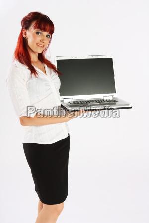 laptop praesentation seitlich