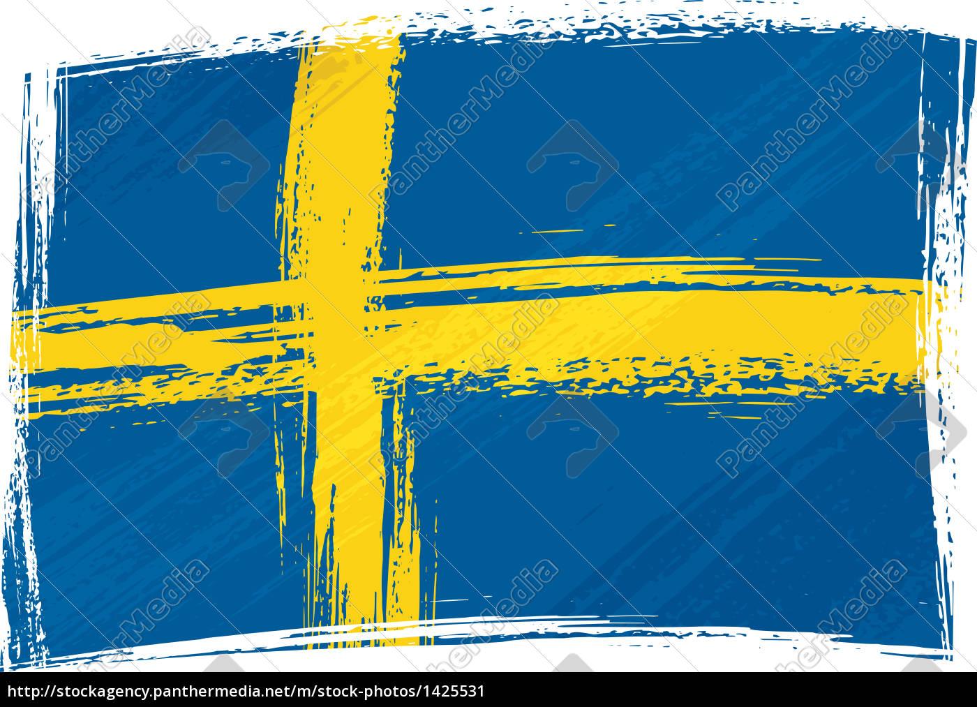 grunge schweden flagge stockfoto 1425531 bildagentur panthermedia. Black Bedroom Furniture Sets. Home Design Ideas