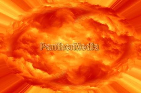 explosion fiery cloud