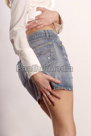 hand on thigh