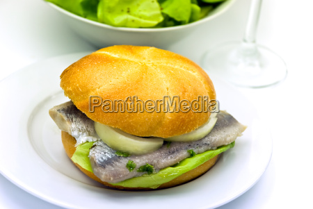 sandwich mit matjes filet hering