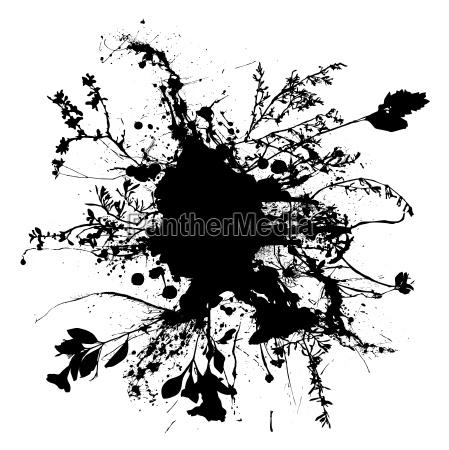 floral ink spray