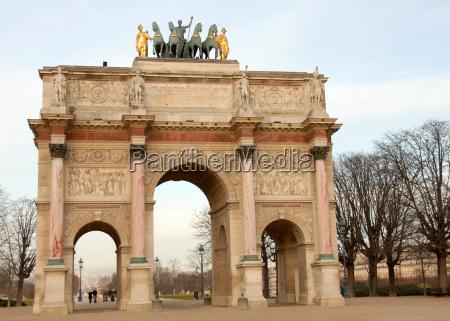 bogen paris frankreich luftschlitz erfolg triumph