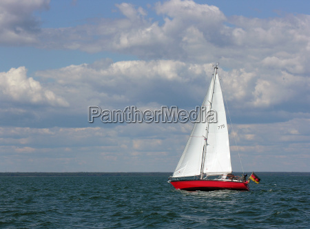 yacht on wind