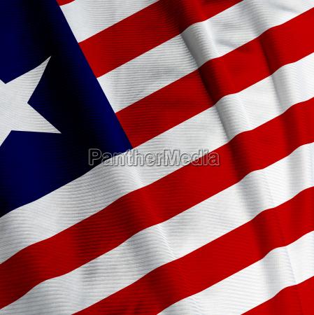 liberianische flagge closeup