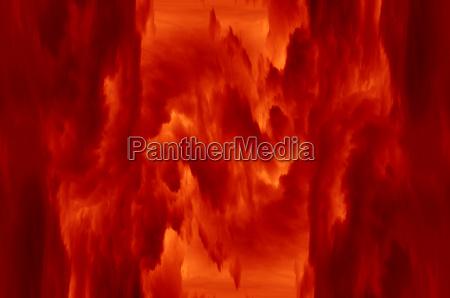 fiery space