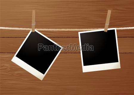 holzmaserung polaroid