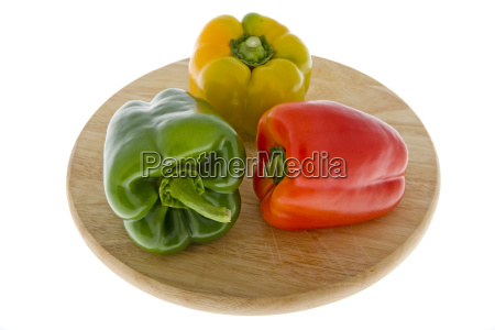 paprika in three colours