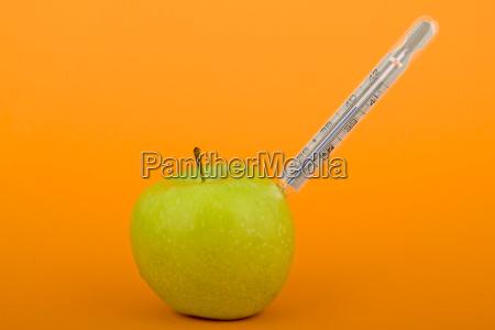 apple with fiebermesser