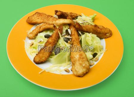 salad with turkey strips