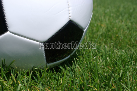 soccer ball close up in the