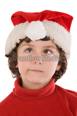 funny boy with red hat of
