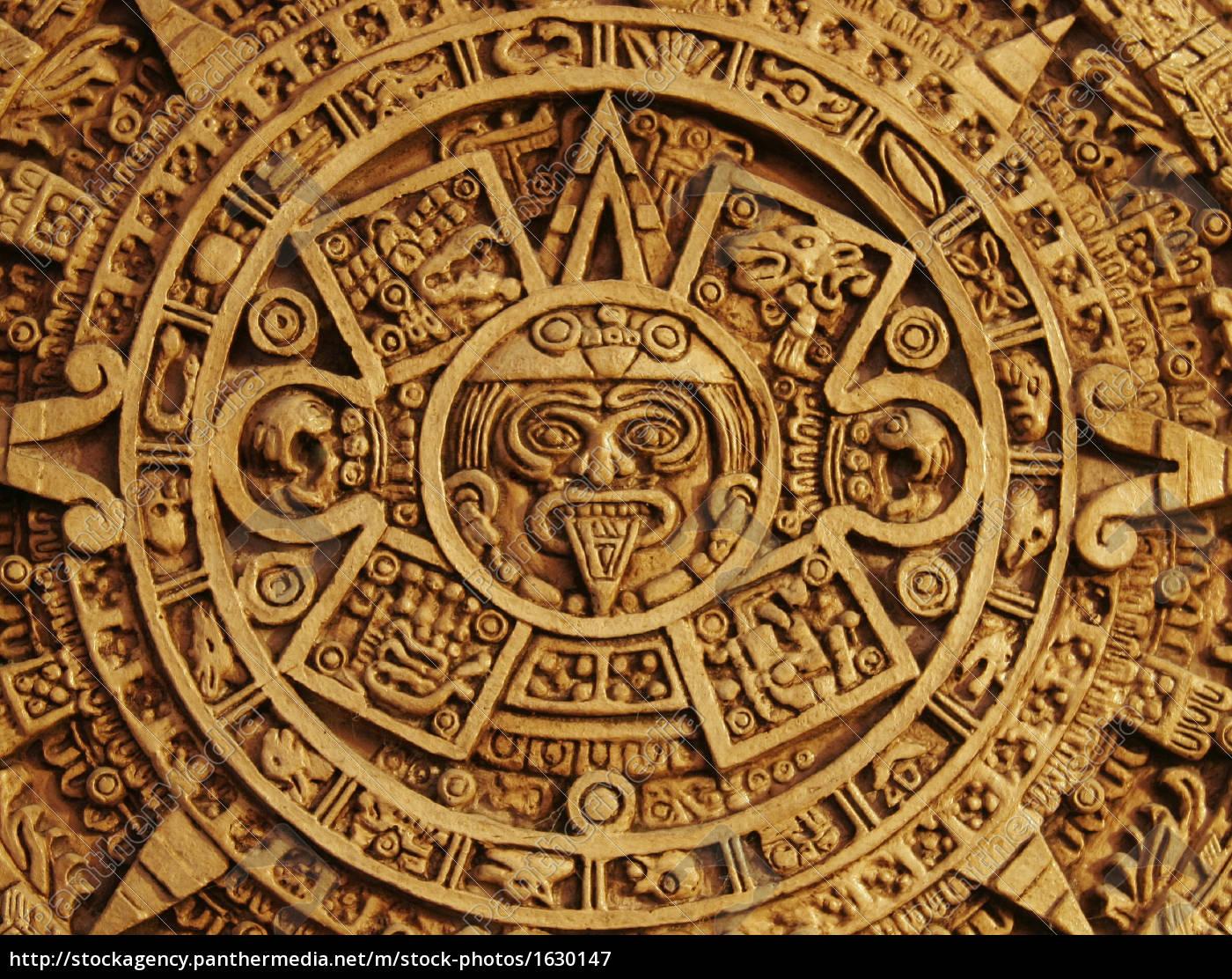 aztekenkalender lizenzfreies bild 1630147