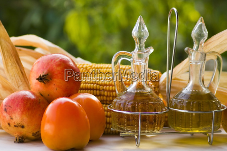 olive oil fruits and and vinegar
