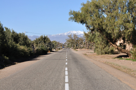 road in morocco africa