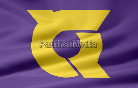 flagge von tokushima japan