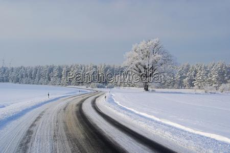 strasse im winter road in