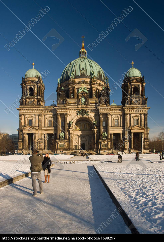berliner, dom, winter - 1698297