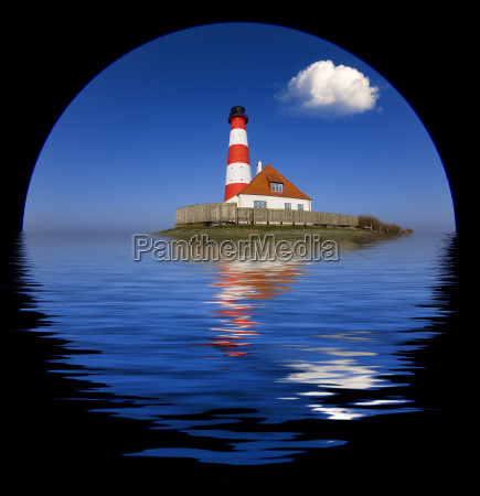 lighthouse with cloud