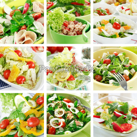 gesunde, salate, collage - 1703687