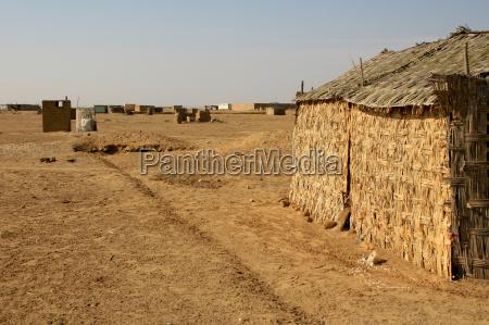 village in desert