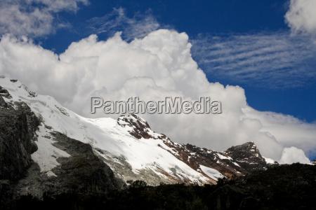 glacier in andes