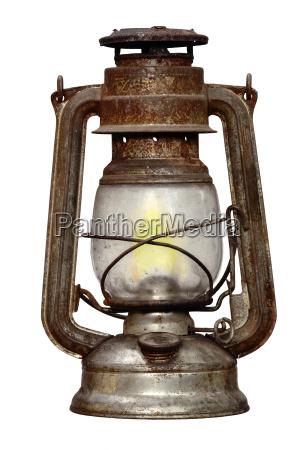 rusty kerosene lamp