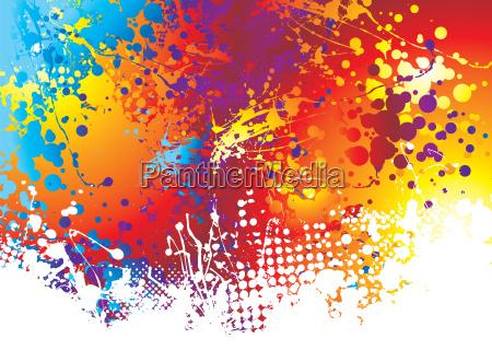ink splat rainbow bottom