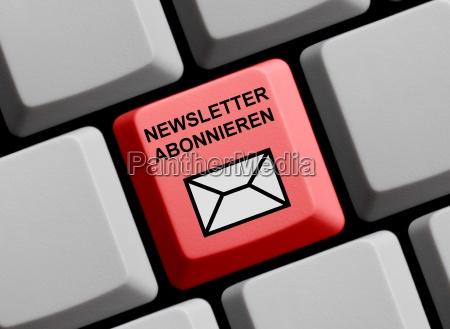 bestellen ordern email abonnieren newsletter abonieren