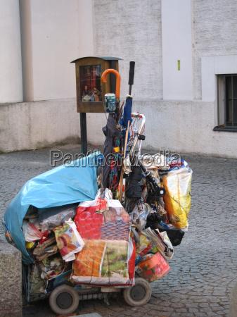 einkaufswagen obdachlos