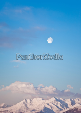 moon and mountain landscape
