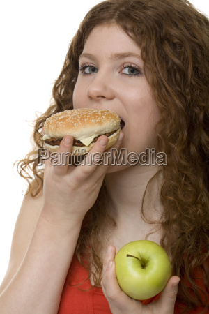 hamburger or apple