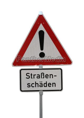 strasenschaeden sign
