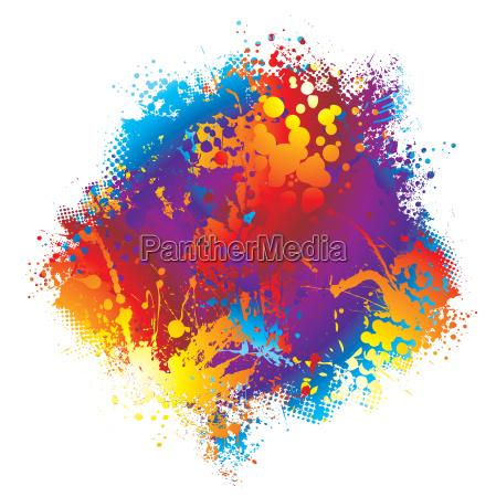 ink rainbow halftone