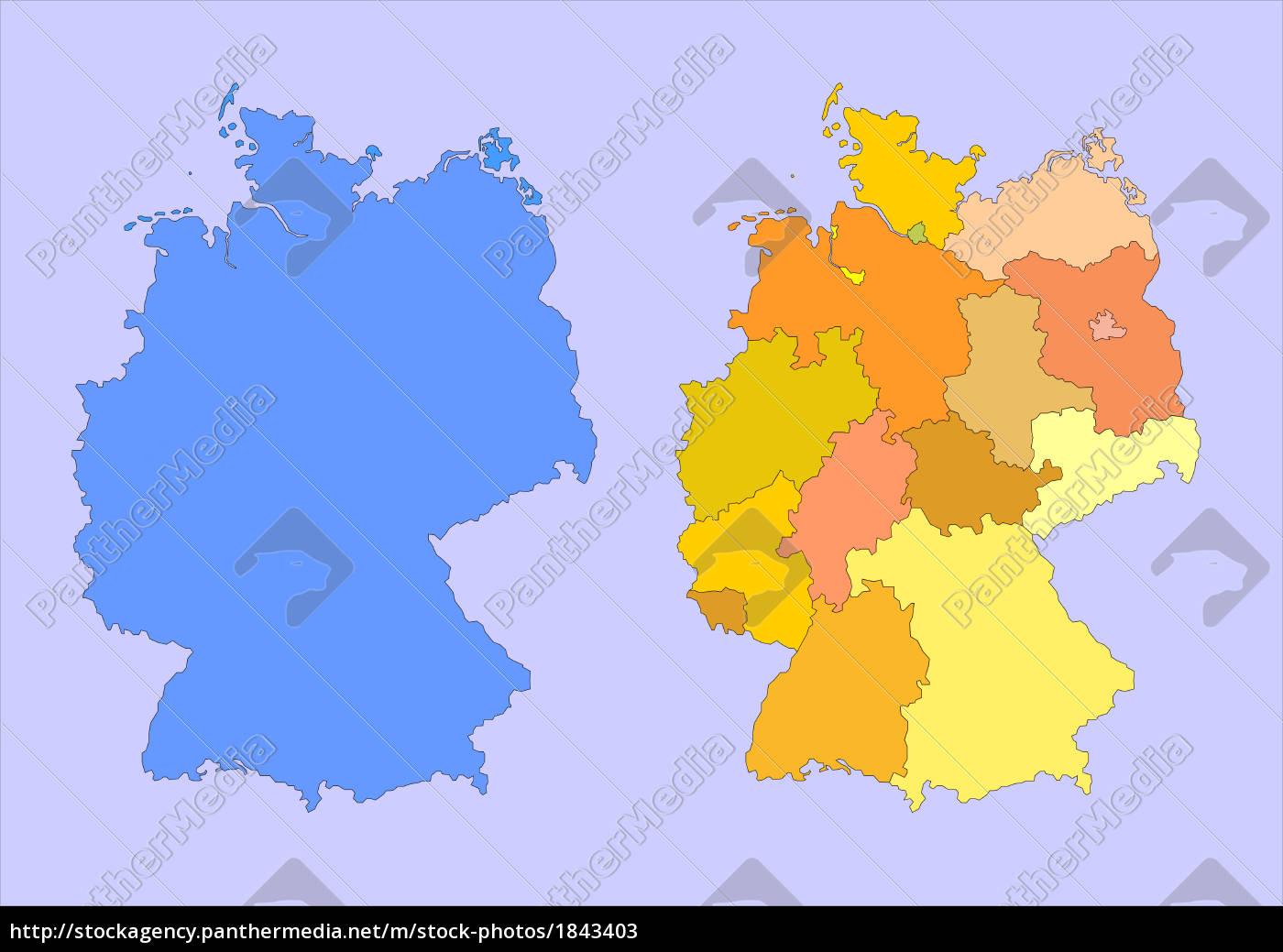 Karte Bundesländer.Lizenzfreies Bild 1843403 Deutschland Karte Landkarte Bundesländer