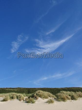 blauer, himmel, über, dünenlandschaft - 1867451