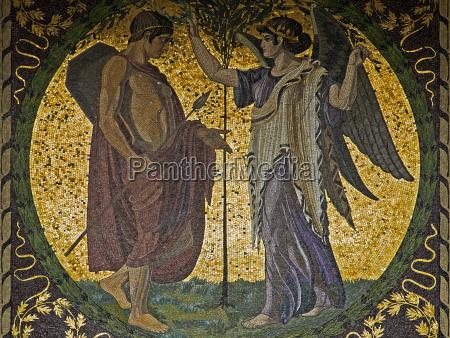 sued mosaik am muenchner friedensengel