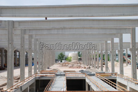 building construction boom concrete hall