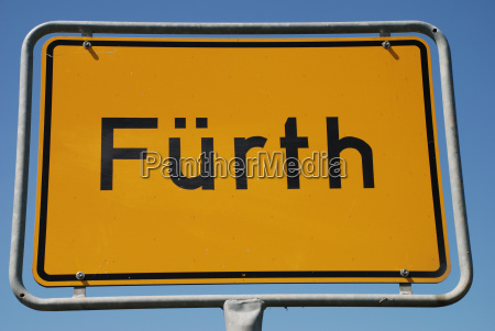 fuerth bavaria town sign