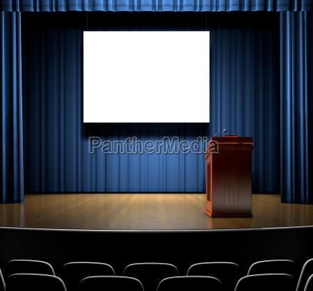podium on stage
