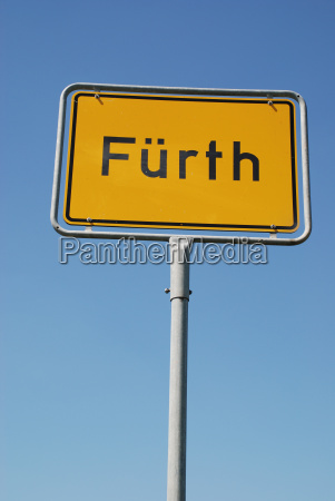 fuerth bavaria city sign