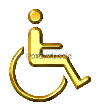 goldenes spezielles bedarfssymbol 3d