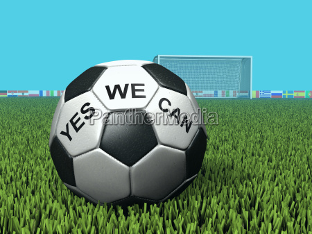 fussball mit aufschrift yes we can